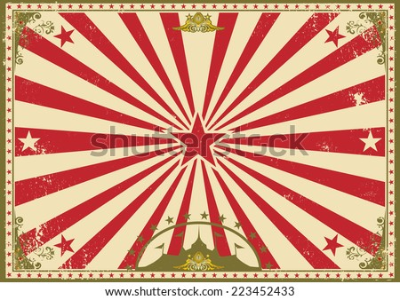 circus vintage horizontal background. A circus vintage poster for your advertising. Perfect size for a screen. - stock vector