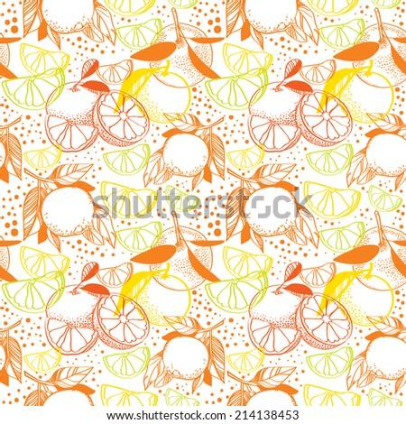 Citrus background - stock vector