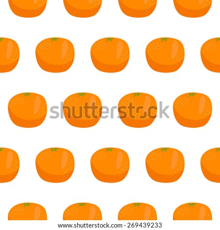 Citrus orange seamless pattern. Vector illustration - stock vector