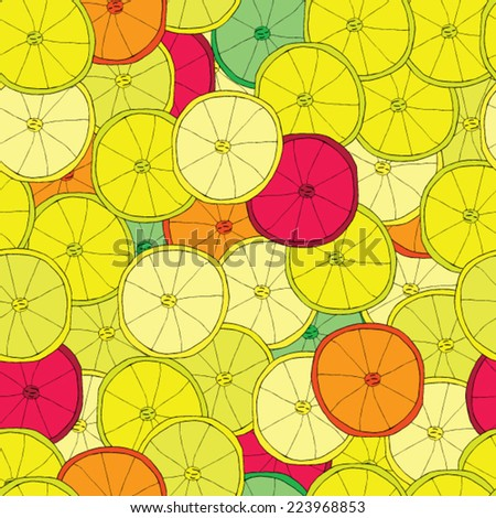 Citrus Vector seamless pattern. background - stock vector