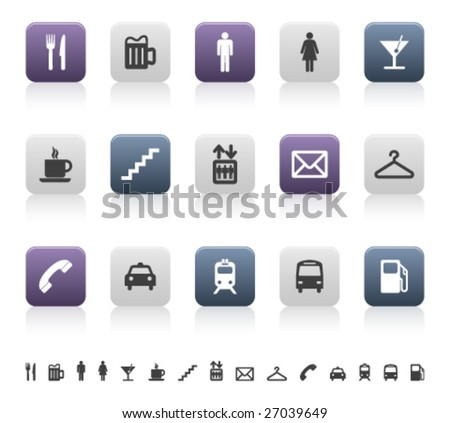city and urban life pictograms (3 of 3) - stock vector