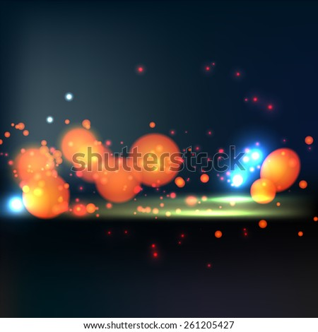 City bokeh background. Vector image. - stock vector