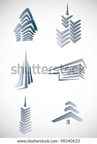 City building  symbols - stock vector