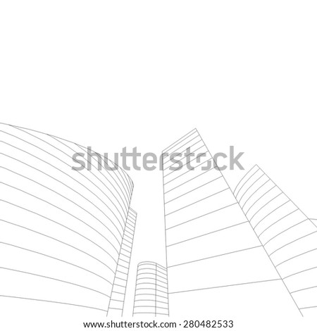 City buildings. Architecture background - stock vector