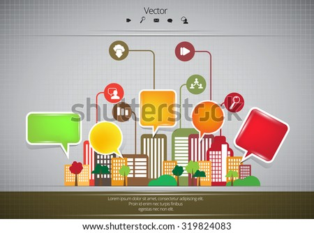City Business Infographics - stock vector