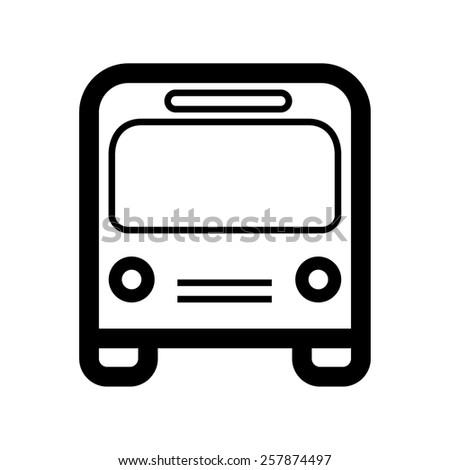 City buss icon - stock vector