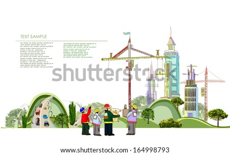 City collection Building site - stock vector
