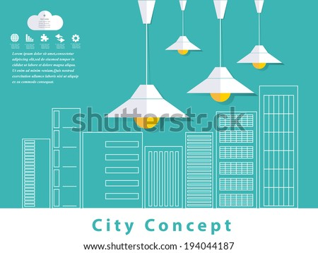 City Concept. Vector Design - stock vector