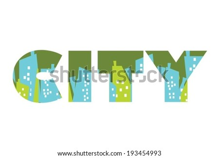 City design - stock vector