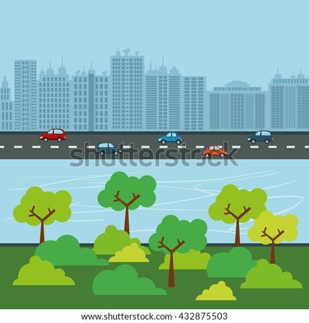 City design. Building icon. Colorful illustration , vector - stock vector