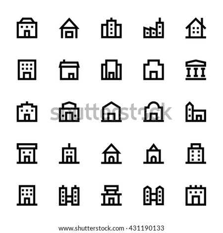 City Elements Vector Icons 2 - stock vector