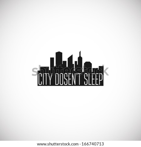 City icon. Vector illustration - stock vector