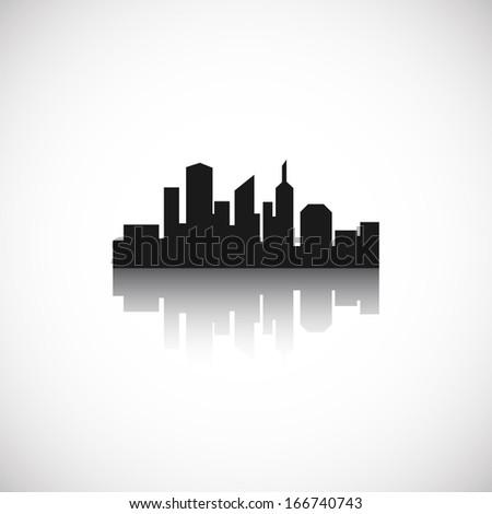 City icon. Vector illustration - stock vector