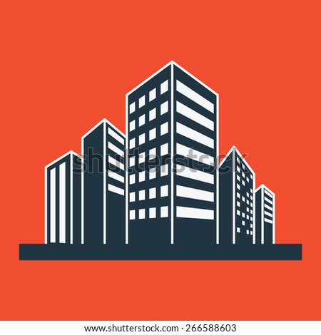 City icon vector illustration. - stock vector
