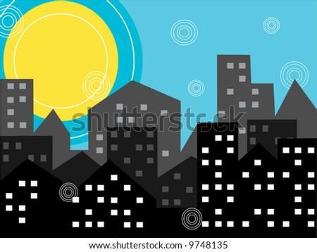 city-illustration,vector - stock vector