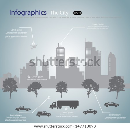 City info graphic ,Vector Illustration - stock vector