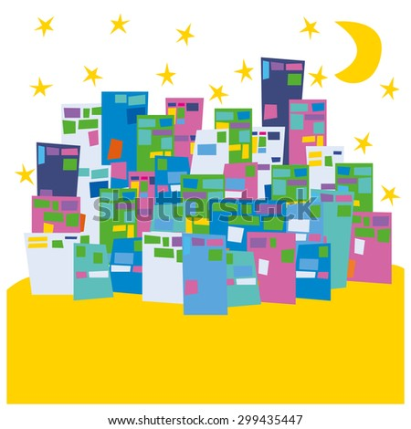 City landscape vector illustration - stock vector