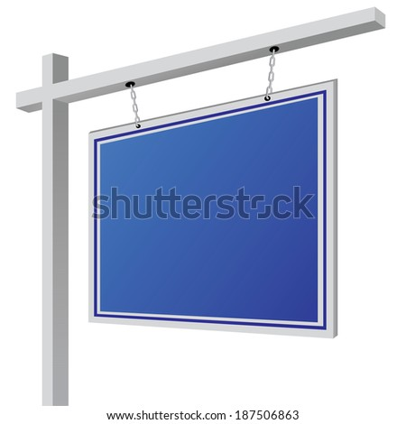 City light billboard on column with empty space for your message or illustration. Vector illustration - stock vector