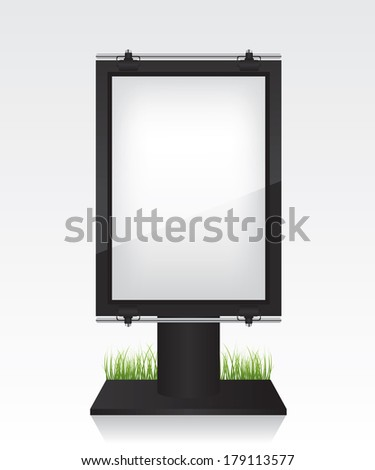 City light black billboard - stock vector