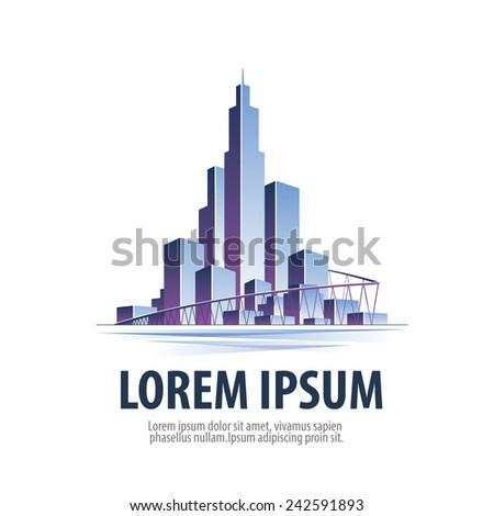 city. logo, icon, emblem, template, sign - stock vector