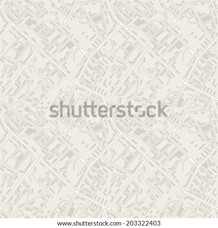City map abstract seamless pattern vector background. - stock vector