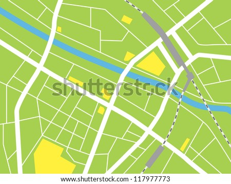 city map, Vector illustration - stock vector