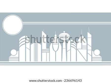 City of the Future - stock vector