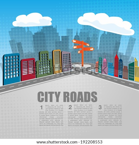 City Roads Background - stock vector