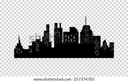 City Silhouette  - stock vector