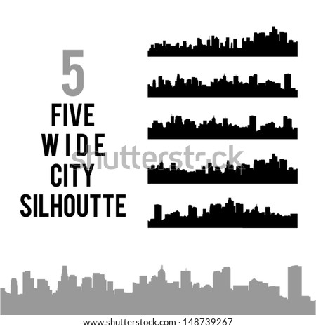 City Silhouettes. High quality vector illustration. Eps10. - stock vector