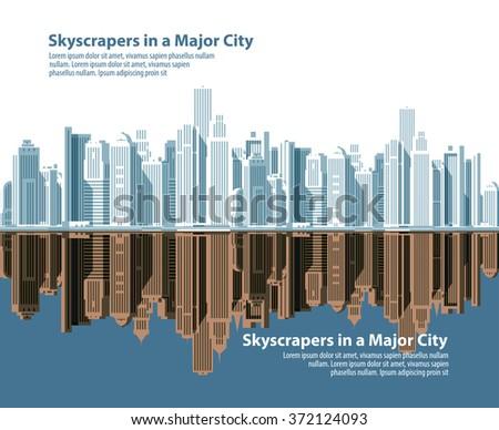 city skylines. vector illustration - stock vector