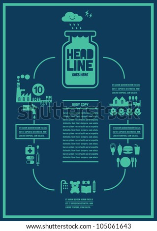 city social Info graphics Vector Art / background / design - stock vector