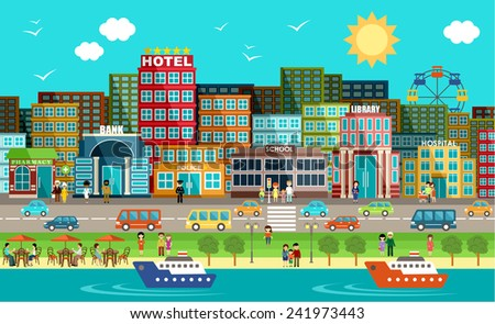 City. Vector - stock vector