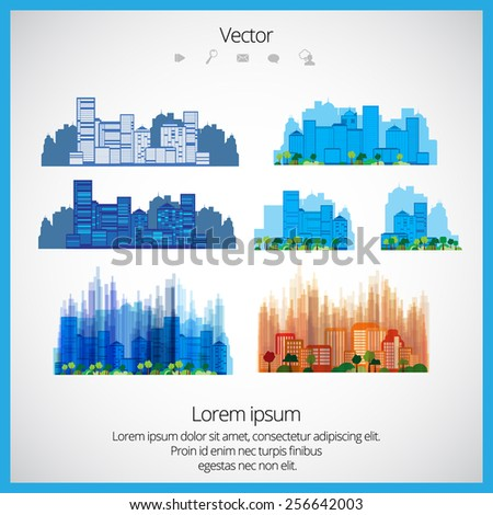 City, vector - stock vector