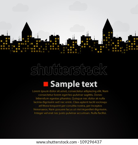 City vector background - stock vector