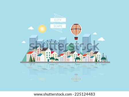 cityscape vector/illustration - stock vector