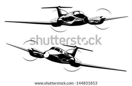 Civil utility aircraft - stock vector