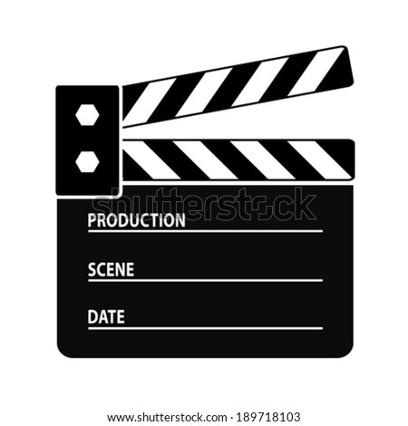 Clapper board vector icon - stock vector