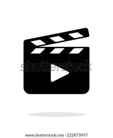 Clapperboard open icon on white background. Vector illustration. - stock vector
