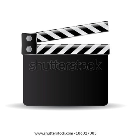 Clapperboard vector illustration - stock vector