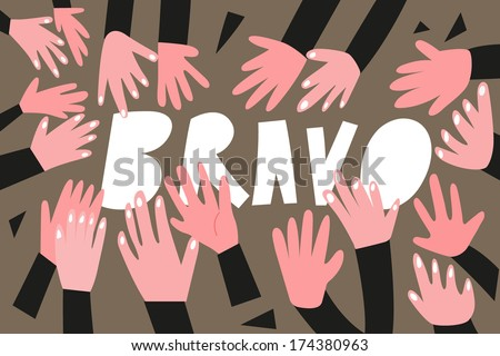 clapping hands,applause - vector illustration - stock vector