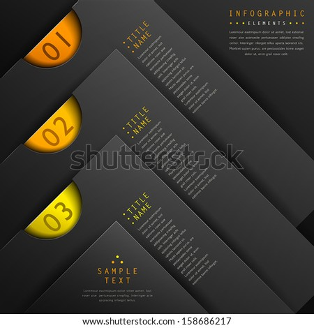classic abstract 3d paper infographic elements - stock vector
