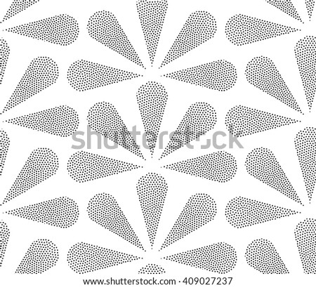 Classic abstract Seamless geometric pattern. Vector illustration. Design in classical simple pointillism style - stock vector