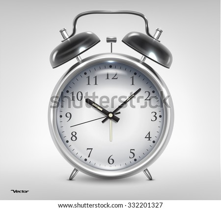 Classic alarm clock. High quality detailed vector object - stock vector