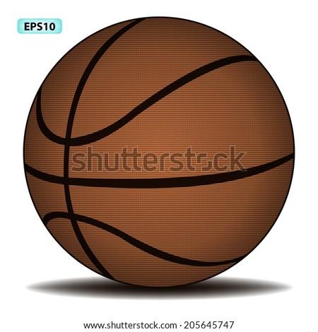 classic basketball, vector illustration - stock vector