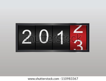 Classic counter in vector. Year counting - stock vector