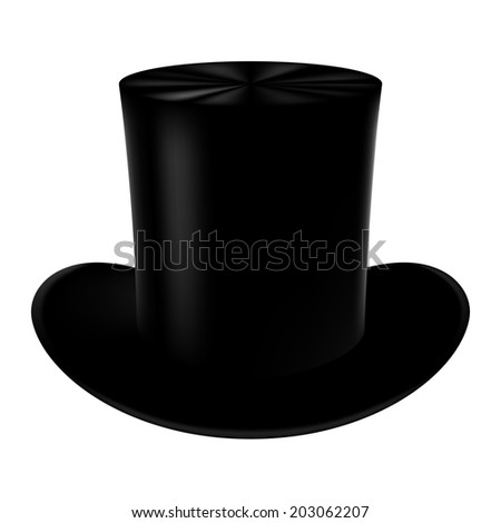 Classic cylinder hat on a white background. - stock vector