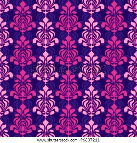 Classic damask pattern seamless wallpaper retro style - stock vector