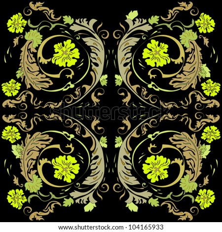 Classic design on a black background - stock vector