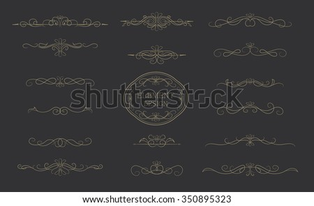 Classic element vintage vector design - stock vector